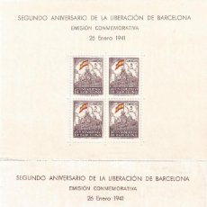 Francobolli: BARCELONA. EDIFIL 29-30. II ANIVERSARIO LIBERACIÓN DE BARCELONA 1941 (SERIE COMPLETA). MNH **. Lote 287060138