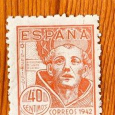 Sellos: 1942, SAN JUAN DE LA CRUZ, EDIFIL 955, NUEVO CON FIJASELLOS. Lote 287221448