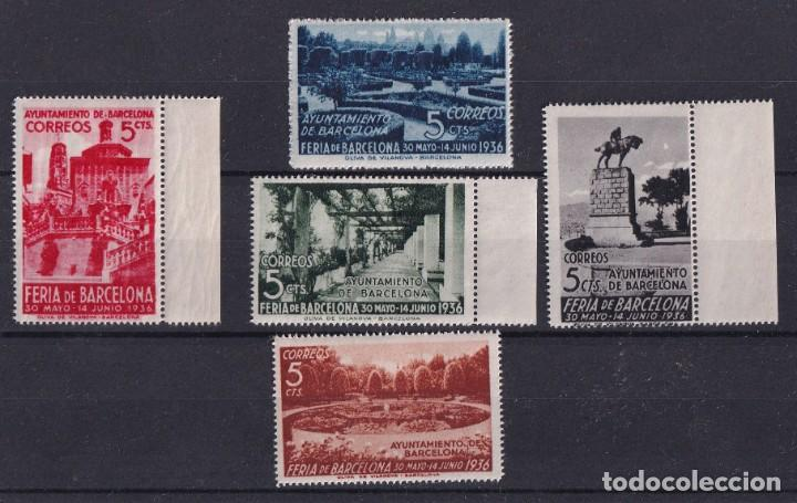 SELLOS ESPAÑA OFERTA AÑO 1936 BARCELONA OFERTA EDIFIL 14/18 EN NUEVO VALOR DE CATALOGO 23.5 € (Sellos - España - Estado Español - De 1.936 a 1.949 - Nuevos)