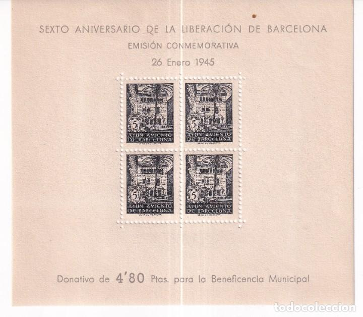 SELLOS ESPAÑA OFERTA AÑO 1945 BARCELONA EDIFIL NE 27 EN NUEVO VALOR DE CATALOGO 57 € (Sellos - España - Estado Español - De 1.936 a 1.949 - Nuevos)