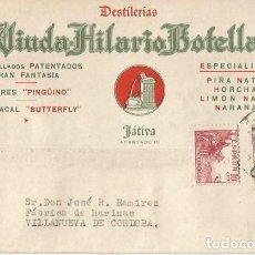 Timbres: TARJETA POSTAL VIUDA HILARIO BOTELLA EL CID 10CTS. FRANCO BUSTO 25CTS. JATIVA. CÓRDOBA 1948. Lote 287349663