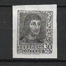 Sellos: ESPAÑA 1938 EDIFIL 844AECB COLOR PIZARRA (*) NUEVO SIN GOMA 170 € - 21/6. Lote 287596143