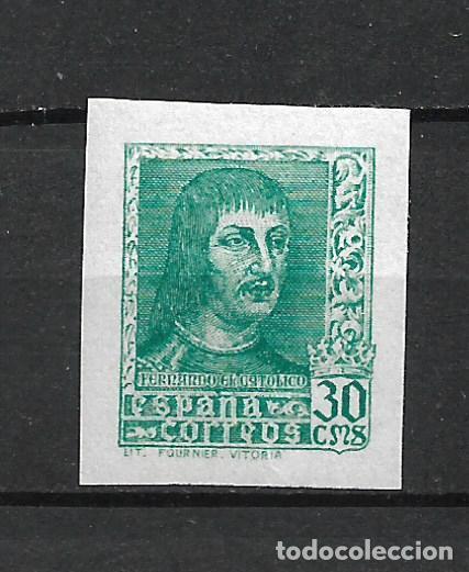 ESPAÑA 1938 EDIFIL 844AECC COLOR VERDE ** MNH 200 € - 21/6 (Sellos - España - Estado Español - De 1.936 a 1.949 - Nuevos)