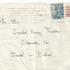 Sellos: SOBRE DEUSTO. BILBAO. EL CID 10CTS FRANCO BUSTO 30CTS MADRID 1944. Lote 287719863