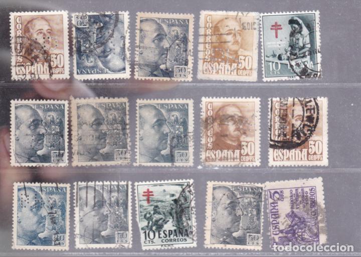 FC3-238- LOTE 15 SELLOS PERFORADOS. VER DORSO (Sellos - España - Estado Español - De 1.936 a 1.949 - Usados)