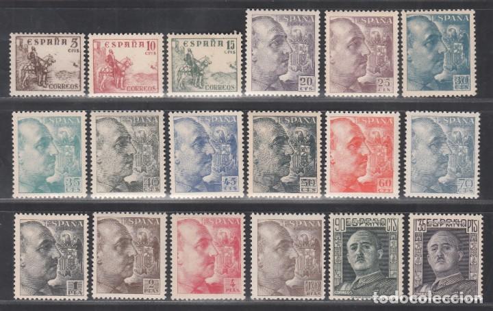 ESPAÑA, 1949 - 1953 EDIFIL Nº 1044 / 1061 /**/, CID Y GENERAL FRANCO. SIN FIJASELLOS (Sellos - España - Estado Español - De 1.936 a 1.949 - Nuevos)