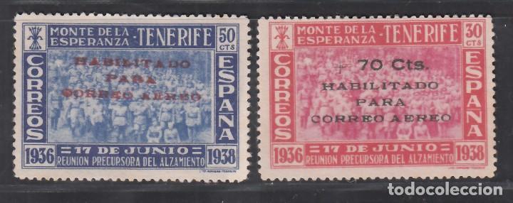 CANARIAS, 1938 EDIFIL Nº 56 / 57 (*), II ANIVERSARIO DE LA REUNIÓN DEL MONTE DE LA ESPERANZA. (Sellos - España - Estado Español - De 1.936 a 1.949 - Nuevos)