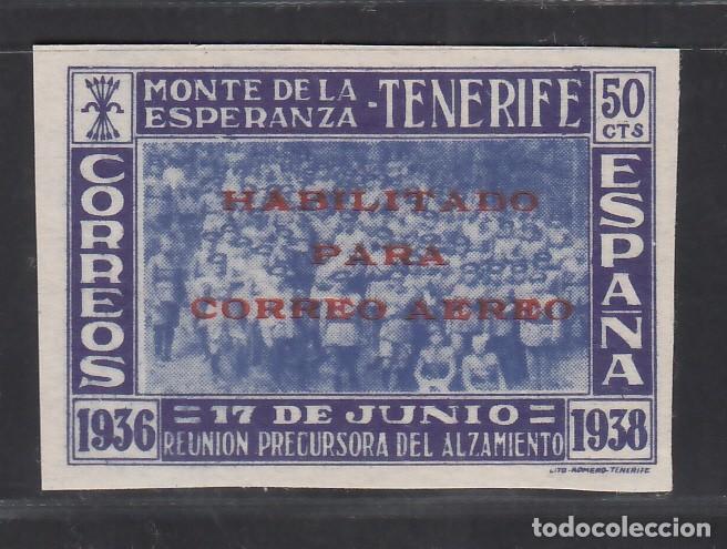 CANARIAS, 1938 EDIFIL Nº 56S /**/, ANIVERSARIO DE LA REUNIÓN DEL MONTE DE LA ESPERANZA. SIN DENTAR. (Sellos - España - Estado Español - De 1.936 a 1.949 - Nuevos)