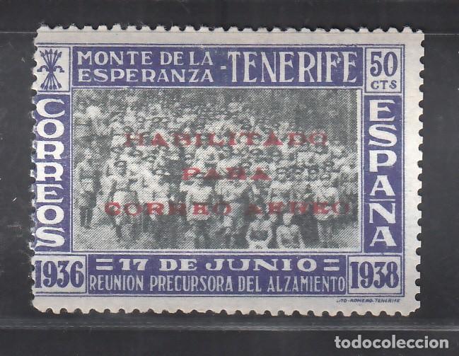 CANARIAS, 1938 EDIFIL Nº 56E /*/, VARIEDAD, HABILITACIÓN SOBRE EL SELLO NÚM. 54 (Sellos - España - Estado Español - De 1.936 a 1.949 - Nuevos)