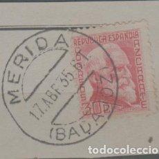 Sellos: LOTE N-SELLO ESPAÑA MATA SELLOS MERIDA BADAJOZ AÑO 1935. Lote 288031403