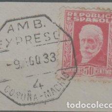 Sellos: LOTE N-SELLO MATA SELLOS EXPRESO CORUÑA MADRID 1933. Lote 288031448