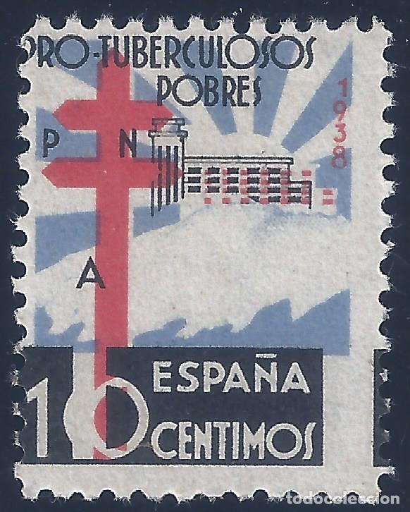 EDIFIL 866 PRO TUBERCULOSOS 1938 (VARIEDADES...FALLOS DE IMPRESIÓN). LUJO. MNH ** (Sellos - España - Estado Español - De 1.936 a 1.949 - Nuevos)