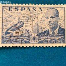 Sellos: USADO. AÑO 1941 - 1947. EDIFIL 944. JUAN DE LA CIERVA.. Lote 288503618