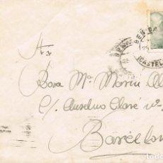 Sellos: 0982. CARTA BENICARLÓ (CASTELLON) 1945 A BARCELONA. Lote 288504193