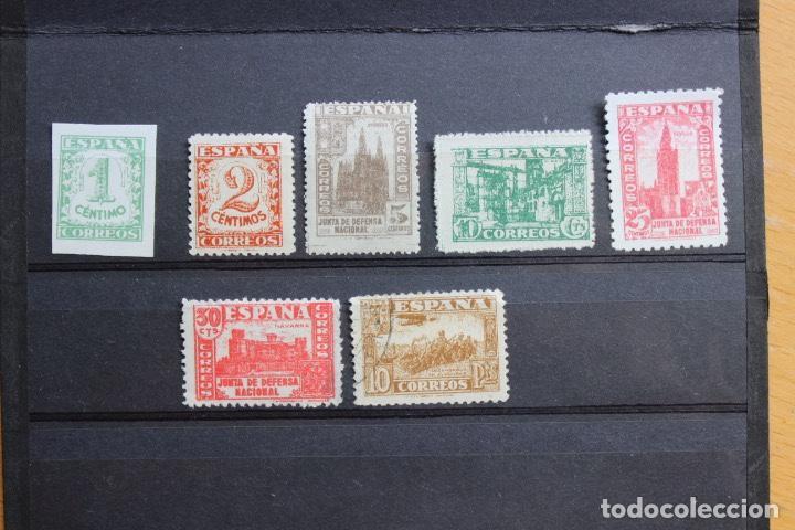 ESPAÑA 1937 JUNTA DEFENSA NACIONAL LOTE 7 SELLOS (Sellos - España - Estado Español - De 1.936 a 1.949 - Usados)