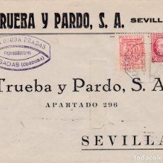 Sellos: SOBRE DE POSADAS A SEVILLA, SELLO 687 Y LOCAL CORDOBA MATASELLO AMBULANTE EXPRESO. Lote 289327063