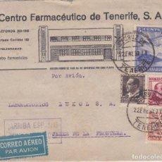 Sellos: CARTA DE TENERIFE A JEREZ CON SELLOS 681, 685 Y CANARIAS 2 Y BENEF 184 AL DORSO PUBLICIDAD. Lote 289328233