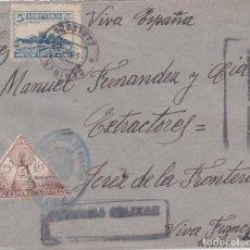 Sellos: FRONTAL DE CARIÑENA A JEREZ, CON FRANQUICIA Y BENEFICO 19 Y BENEFICO DE CADIZ. Lote 289331368