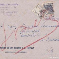 Sellos: CARTA DE JEREZ CORREO INTERIOR CON SELLO 816 B Y MOVIL. Lote 289331928