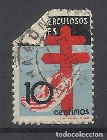 PRO TUBERCULOSOS 1937 EDIFIL 840 USADO VALOR 2018 CATALOGO 8.20 EUROS FECHADOR PLIEGUE TARRAGONA (Sellos - España - Estado Español - De 1.936 a 1.949 - Usados)