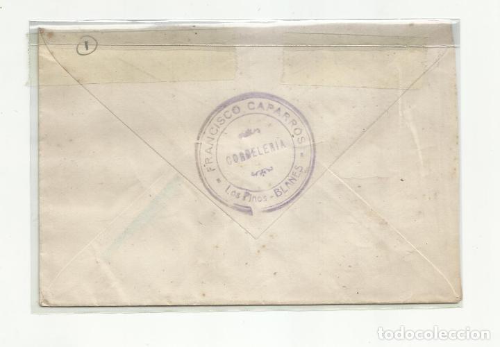 Sellos: CIRCULADA 1951 DE BLANES GIRONA GERONA A MARSEILLE FRANCIA - Foto 2 - 289542343