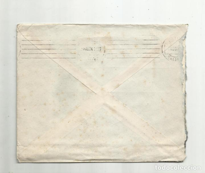 Sellos: CIRCULADA 1947 DE FONDA 4 NACIONES DE LERIDA A XATIVA VALENCIA - Foto 2 - 289611698