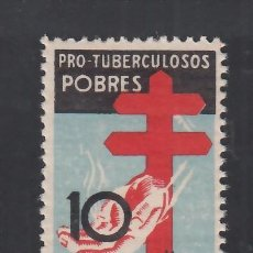 Sellos: ESPAÑA, 1937 EDIFIL Nº 840 /**/, PRO TUBERCULOSOS, SIN FIJASELLOS, BIEN CENTRADO.. Lote 289722533