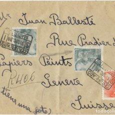 Sellos: 1939 CARTA CERTIFICADO MADRID A SUIZA. Lote 289761508