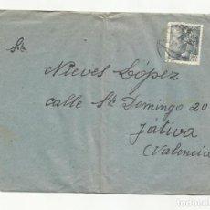 Sellos: CIRCULADA 1947 DE GRAN HOTEL PIRINEOS HUESCA A XATIVA VALENCIA. Lote 289776768