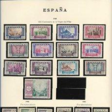Sellos: SELLOS ESPAÑA 1940, XIX CENTENARIO DE LA VIRGEN DEL PILAR. Lote 289794953
