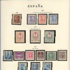 Sellos: SELLOS ESPAÑA 1942,43, CENTENARIO DE SAN JUAN DE LA CRUZ, PRO-TUBERCULOSOS, AÑO SANTO. Lote 289795148