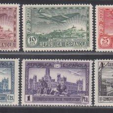 Sellos: ESPAÑA. 1931 EDIFIL Nº 614 / 619 /**/, CONGRESO DE LA UNIÓN POSTAL PANAMERICANA, SIN FIJASELLOS. Lote 289899873