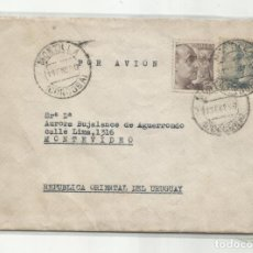 Sellos: CIRCULADA 1950 DE MONTILLA CORDOBA A MONTEVIDEO URUGUAY. Lote 293617348