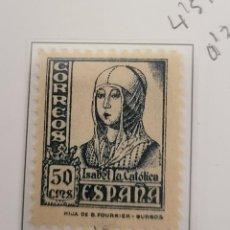 Francobolli: SELLO DE ESPAÑA 1937 - 40 CIFRAS. CID E ISABEL. 50 CTS EDIFIL 825. Lote 293801608