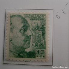Sellos: SELLO DE ESPAÑA 1940 - 45 GENERAL FRANCO Y ESCUDO DE ESPAÑA 15 CTS EDIFIL 921. Lote 293893493