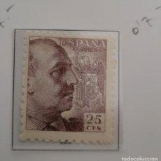 Sellos: SELLO DE ESPAÑA 1940 - 45 GENERAL FRANCO Y ESCUDO DE ESPAÑA 25 CTS EDIFIL 923. Lote 293893758