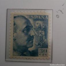 Sellos: SELLO DE ESPAÑA 1940 - 45 GENERAL FRANCO Y ESCUDO DE ESPAÑA 30 CTS EDIFIL 924. Lote 293893908