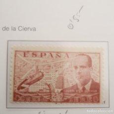 Sellos: SELLO DE ESPAÑA 1941 - 50 JUAN DE LA CIERVA 25 CTS EDIFIL 941. Lote 293902383