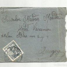 Sellos: CIRCULADA 1947 DE XATIVA JATIVA VALENCIA A HOTEL VASCONIA DE ZARAGOZA. Lote 293905133