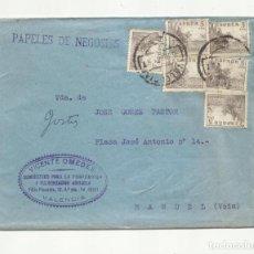 Sellos: CIRCULADA 1948 DE VALENCIA A MANUEL. Lote 293905613
