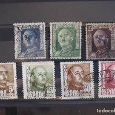 Sellos: SERIES COMPLETAS FRANCO EDIFIL 1020 A 1023 + 999 1001 USADOS ESPAÑA 1946 - 1948. Lote 293940133