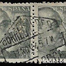 Sellos: ESTADO ESPAÑOL - GENERAL FRANCO - EDIFIL 925 - 1940 - BLOQUE DE DOS. Lote 294051098