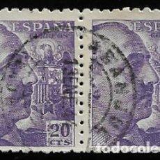 Sellos: ESTADO ESPAÑOL - GENERAL FRANCO - EDIFIL 922 - 1940 - BLOQUE DE DOS. Lote 294052228