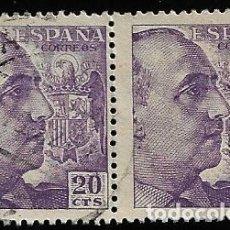 Sellos: ESTADO ESPAÑOL - GENERAL FRANCO - EDIFIL 1047 - 1949-53 - BLOQUE DE DOS. Lote 294053028