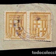 Sellos: CL8-13 AYUNTAMIENTO DE BARCELONA VALOR 50 CTS SELLO DE TENENCIA DE ALCALDIA DE BARCELONA. Lote 294114183