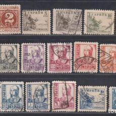 Sellos: ESPAÑA. 1937-1940 EDIFIL Nº 814 / 831, 816A, CIFRAS, CID E ISABEL,. Lote 294380458