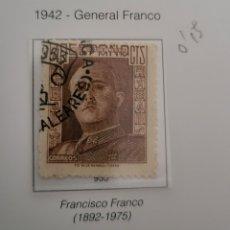 Sellos: SELLO DE ESPAÑA 1942 GENERAL FRANCO 40 CTS EDIFIL 953 USADO. Lote 294435873