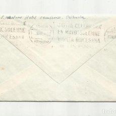 Sellos: CIRCULADA 1946 DE ORIHUELA ALICANTE A XATIVA VALENCIA RODILLO VIGILIA DIOCESANA DE LAS ESPINAS. Lote 295024728
