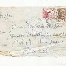 Sellos: CIRCULADA 1951 AMBULANTE VALENCIA ALCAZAR A BATALLON CAZADORES SAN GREGORIO ZARAGOZA. Lote 295025633