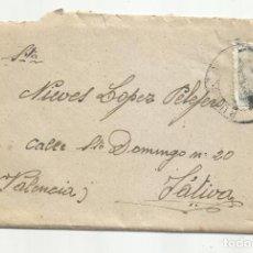 Sellos: CIRCULADA 1942 DE BURGOS A XATIVA JATIVA VALENCIA. Lote 295026048